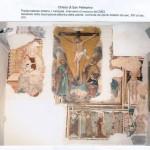 Parete laterale sinistra, I campata. Restauro del 2003. Dipinti databili dal XIV al XVI sec.