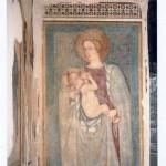 Parete laterale sinistra, I campata. Restauro 2003. Madonna del Latte sec. XVI