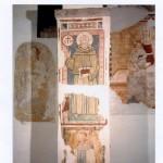 Parete laterale sinistra, II campata. S. Bernardino sec. XV e Sant'Amico metà sec. XV