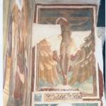 Parete laterale sinistra, III campata. Restauro 2003. Crocifisso. Fine sec. XV