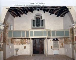 Controfacciata dopo l'intervento di restauro 2005 - 2006