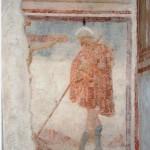 Controfacciata. Restauro 2005 - 2006. Frammento Cristo crocifisso e Santo n.i. pellegrino sec. XV