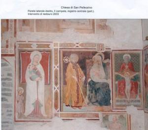 Parete laterale destra, II campata, registro centrale. Restauro 2003