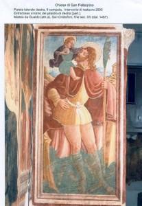 Parete laterale destra, restauro 2003. San Cristoforo