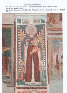 Parete laterale destra, II campata. Restauro 2003. Madonna con Bambino