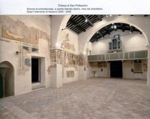 Scorcio di controfacciata e parete laterale destra. Dopo restauro 2005-2006